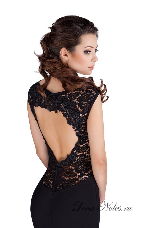 черное кружевное платье - 12 качественных фото