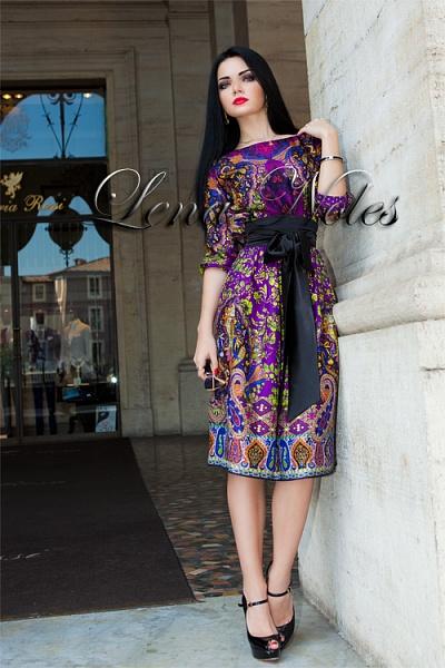 Платье с восточным узором