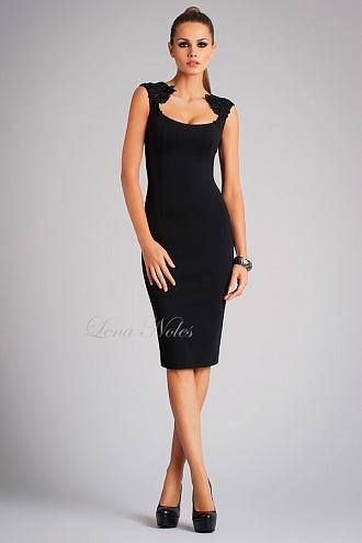 Платье коктейльное черное